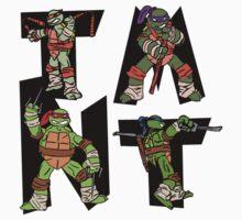 Teenage Mutant Ninja Turtles TMNT Letterforms Kids Clothes