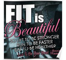 Fit Is Beautiful Poster
