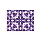 Purple Damask Pattern by Toby Davis