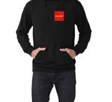LOCAN yellow on red Lightweight Hoodie