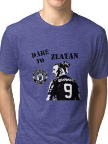 Zlatan Ibrahimovic - Dare to Zlatan - Manchester United Tri-blend T-Shirt