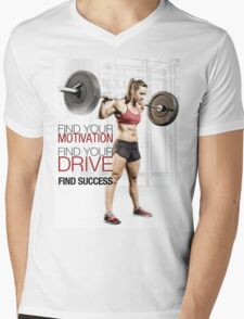 Find Your Motivation, Drive, and Success Mens V-Neck T-Shirt