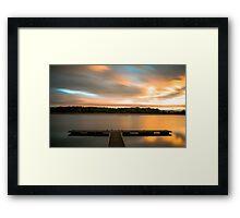 Reservoir Sunrise Framed Print