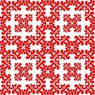 Red Damask Pattern by Toby Davis