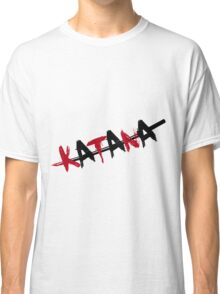 Katana Black and Red Classic T-Shirt