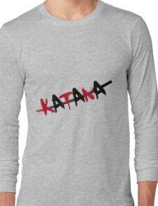 Katana Black and Red Long Sleeve T-Shirt
