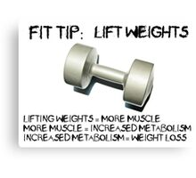 Fit Tip - Lift Weights Canvas Print