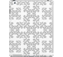Silver Damask Pattern iPad Case/Skin