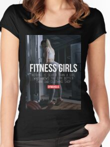 Nothing Sexier Than A Fitness Girl Women's Fitted Scoop T-Shirt