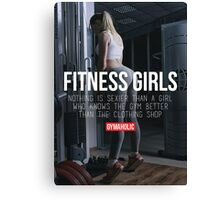 Nothing Sexier Than A Fitness Girl Canvas Print