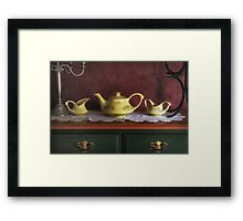 Vintage Yellow Tea Set - Selected in Solo Exhibition women in the arts Framed Print