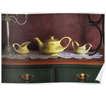 Vintage Yellow Tea Set - Selected in Solo Exhibition women in the arts Poster