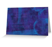 blue paint Greeting Card