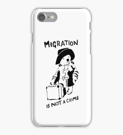 Migration Is Not A Crime - Banksy iPhone Case/Skin