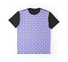 Abstraction #070 Pattern Blue and White Blocks Graphic T-Shirt
