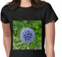 Echinops Blue Flower Womens Fitted T-Shirt