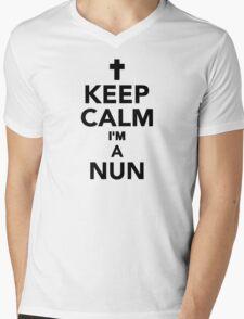 Keep calm I'm a Nun Mens V-Neck T-Shirt