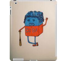 Cube-an baseball player iPad Case/Skin
