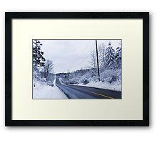 Winter Road 2 Framed Print