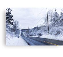 Winter Road 2 Metal Print