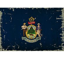 Maine State Flag VINTAGE Photographic Print