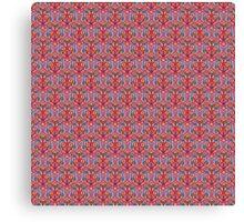 Pink Tribal Knitting Pattern Canvas Print