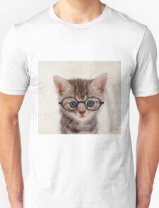 Kitten with Glasses Unisex T-Shirt