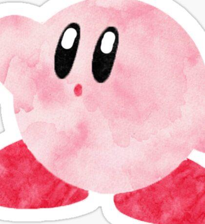 Watercolour Kirby! Sticker