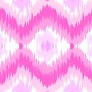 Vintage Pink Ikat Pattern by iEric