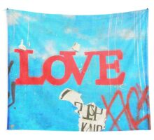 Graffiti Love Wall Tapestry