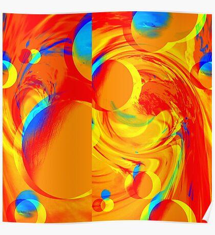Bubbles: Orange Pop. VividScene Poster