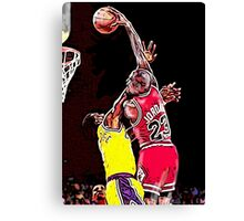 Old School NBA - Mike Canvas Print