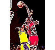Old School NBA - Mike Photographic Print