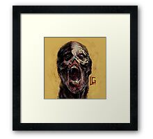 Yellow Zombie Framed Print