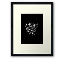3d Cube design Framed Print