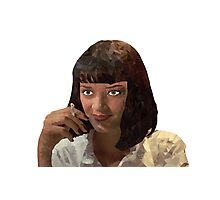 Mia Wallace - Pulp fiction Photographic Print