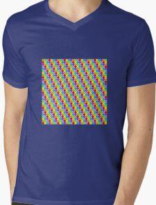 Rainbow Dots Mens V-Neck T-Shirt