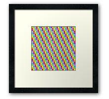 Rainbow Dots Framed Print