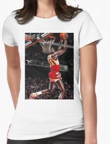 Old School NBA - 'Nique Womens Fitted T-Shirt