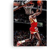 Old School NBA - 'Nique Canvas Print