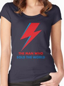 """David Bowie """"The Man Who Sold the World"""" original design Women's Fitted Scoop T-Shirt"""
