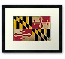 Maryland State Flag VINTAGE Framed Print