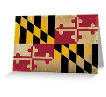 Maryland State Flag VINTAGE Greeting Card