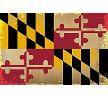 Maryland State Flag VINTAGE Photographic Print