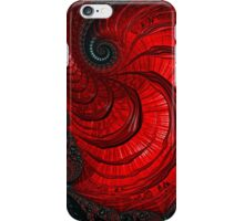 Red And Black - Fractal Art - Square  iPhone Case/Skin