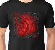 Red And Black - Fractal Art - Square  Unisex T-Shirt