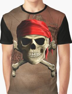 The Jolly Roger Pirate Map Graphic T-Shirt