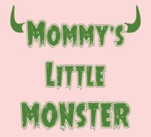 Funny Mommy's Little Monster - Goth Baby Clothing Kids Tee