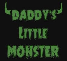 Funny Daddy's Little Monster - Goth Baby Clothing Baby Tee