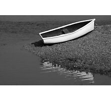Little white rowing boat Photographic Print